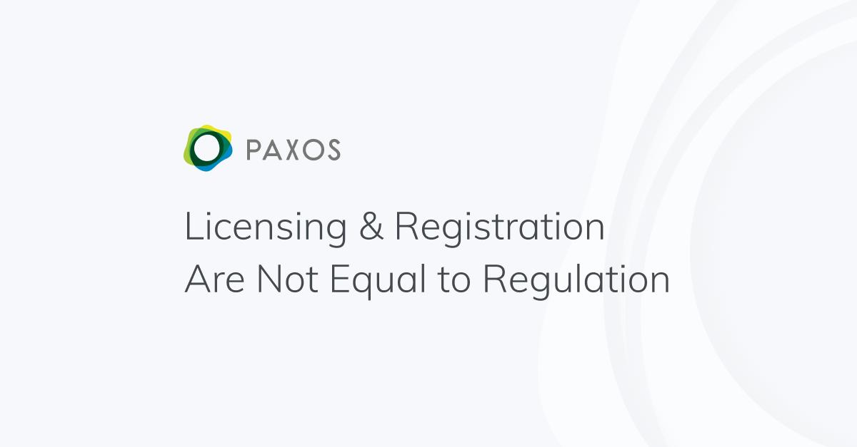Licensing & Registration Are Not Equal to Regulation